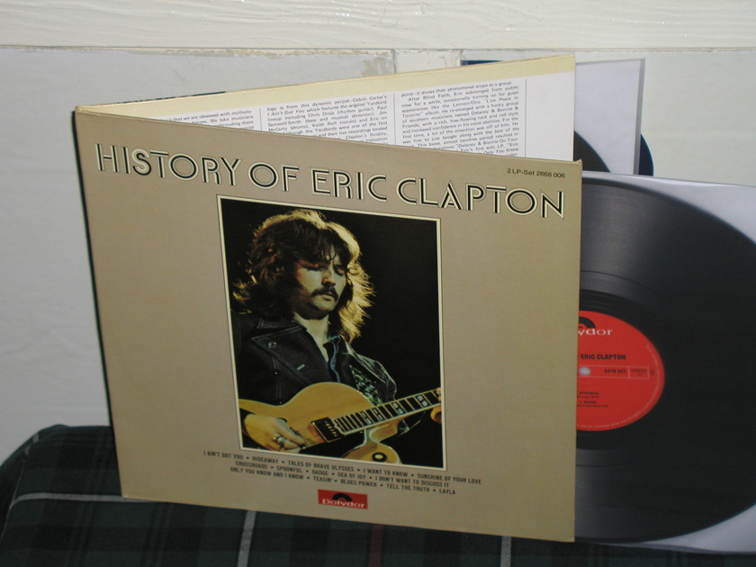 Eric Clapton - History Of Eric Clapton (German) 2 LP German Import