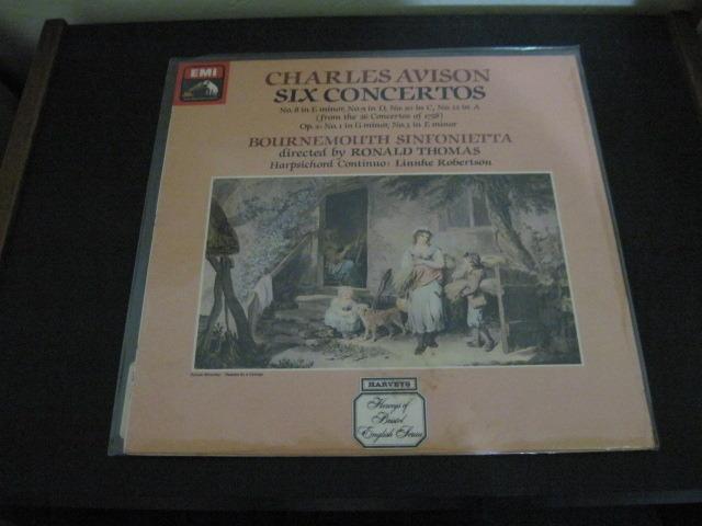 "CHARLES AVISON - ""Six Concertos Bournemouth Sinfonietta Thomas Linnhe Robertson"" LP/Vinyl"