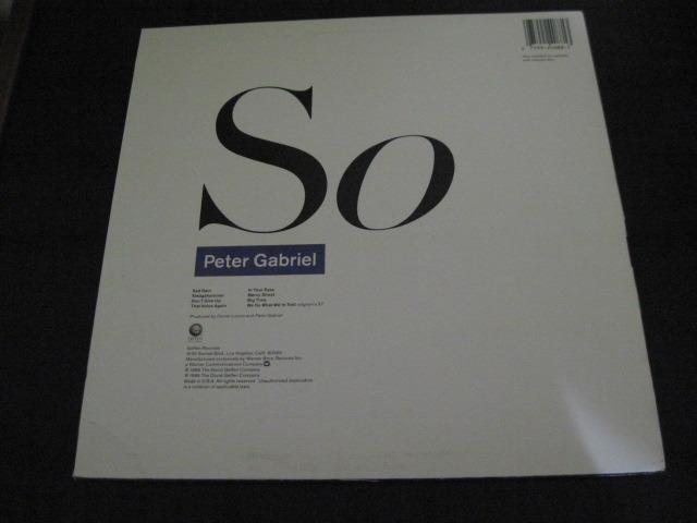 PETER GABRIEL LP/Vinyl -lot of 3- - So, Mercury, Plays Live