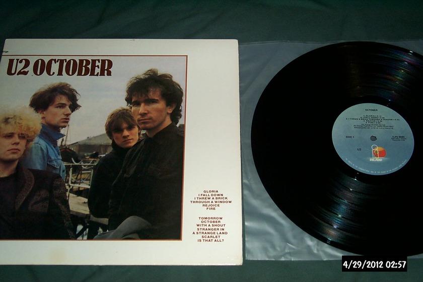 U2 - October lp nm light blue island label