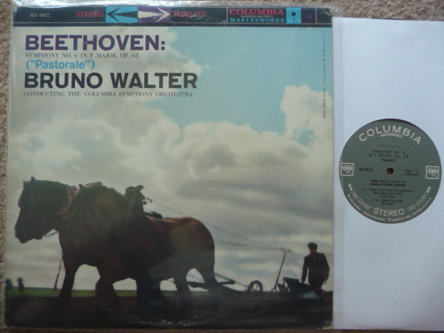 BEETHOVEN SYM NO. 6  - PASTORALE BRUNO WALTERS COLUMBIA LP EXCEL