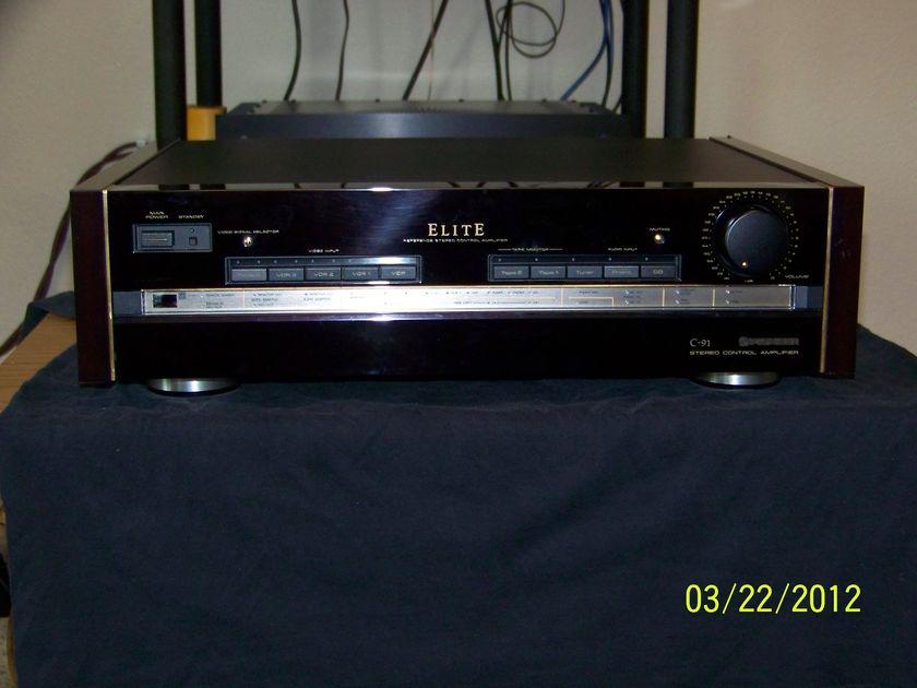Pioneer  Elite C-91 pre-amp w/remote