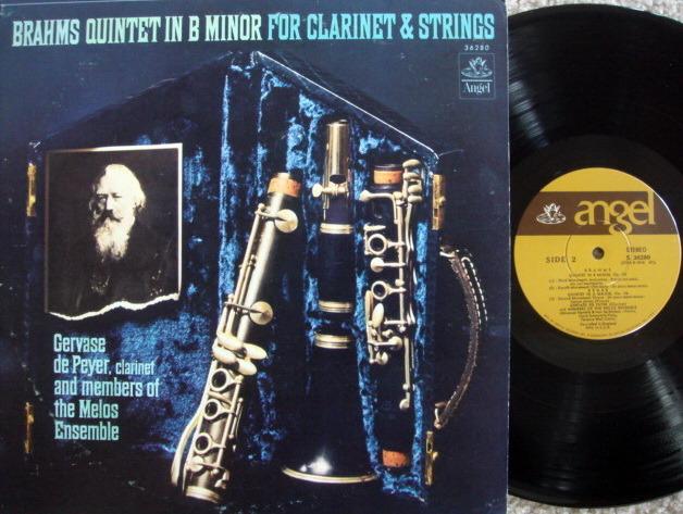 EMI Angel / MELOS ENSEMBLE, - Brahms Clarinet Quintet, NM!