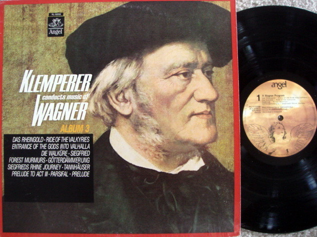 EMI Angel / KLEMPERER, - Music of Wagner Album 3, NM!