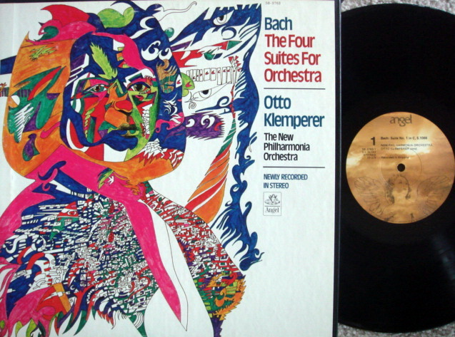 EMI Angel / KLEMPERER, - Bach Four Suites for Orchestra, NM, 2LP Box Set!