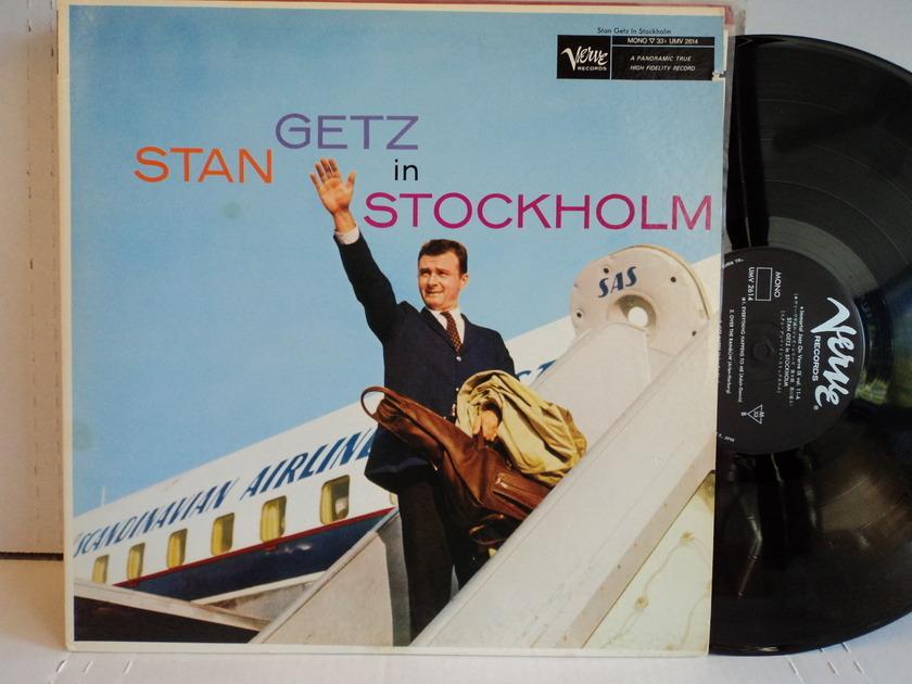 Stan Getz  - Stan Getz in Stockholm  *Rare Mono LP* Japan Import Verve UMV 2614