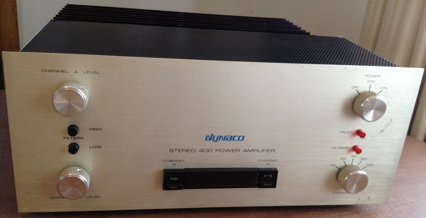 Dynaco Stereo 400 solid state amplifier, professionally serviced, works great, no problems