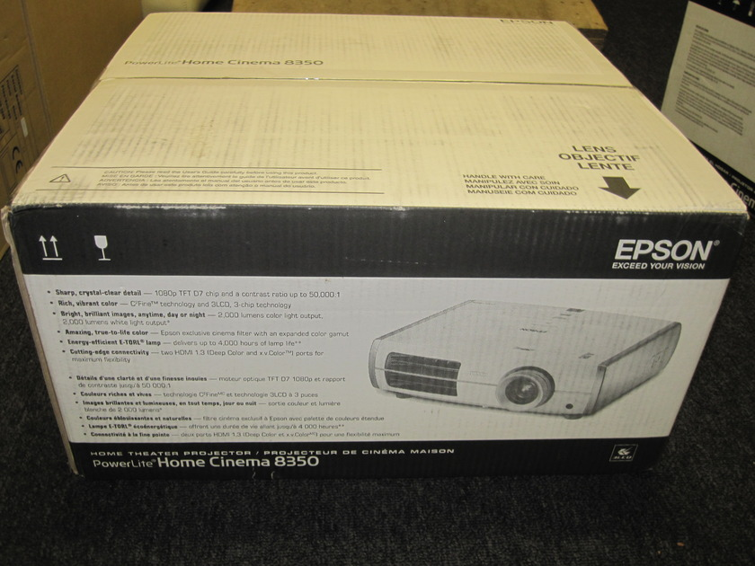 Epson cinema 8350 hd1080p projector Brand New