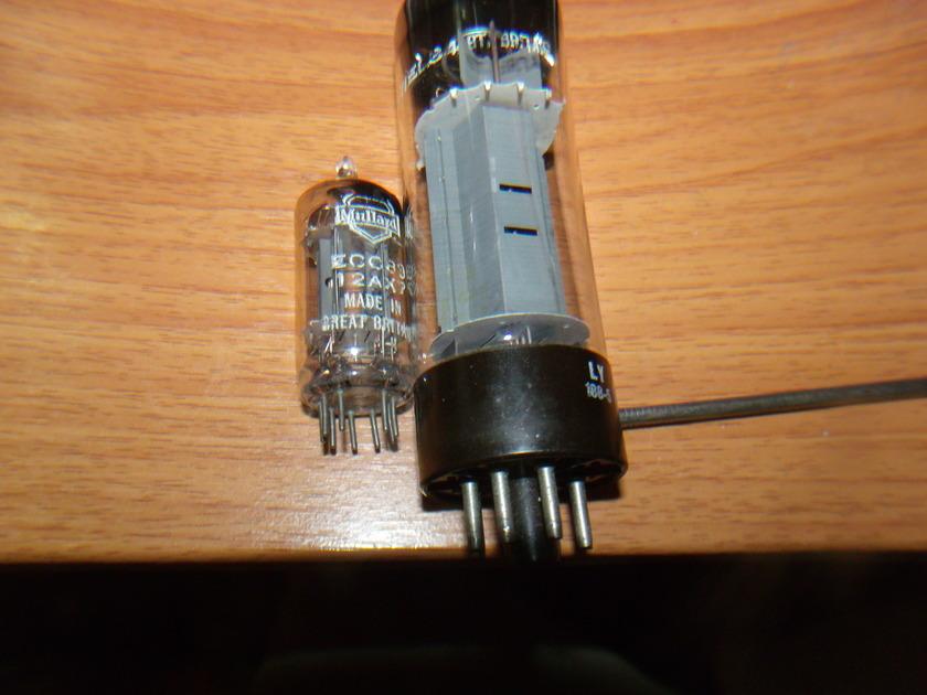 MULLARD / BLACKBURN ENGLAND EL34 / 12AX7 12AX7 ECC83 AND EL34 6CA7 NOS PERFECT HIGH END AUDIO TUBES