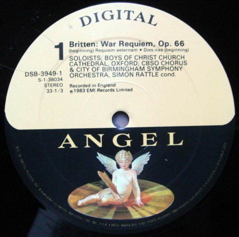 EMI Angel Digital / RATTLE,  - Britten War Requiem,  NM, 2 LP Set!