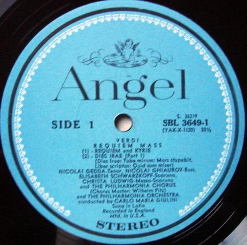 EMI Angel Blue / GIULINI-SCHWARZKOPF, - Verdi Requiem, NM, 2LP Box Set!
