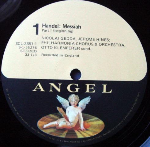 EMI Angel / KLEMPERER-SCHWARZKOPF, - Handel Messiah, NM, 3LP Box Set!