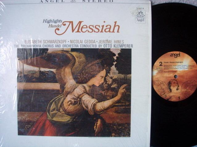 EMI Angel / KLEMPERER-SCHWARZKOPF, - Handel Messiah Highlights, NM-!