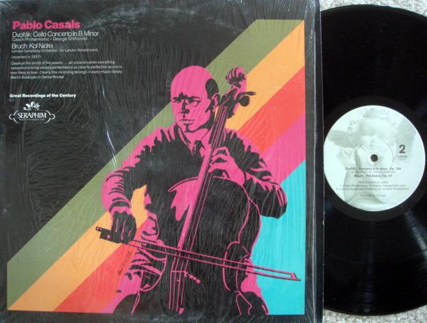 EMI Angel Seraphim / CASALS, - Dvorak Cello Conerto, Kol Nidrei, NM!
