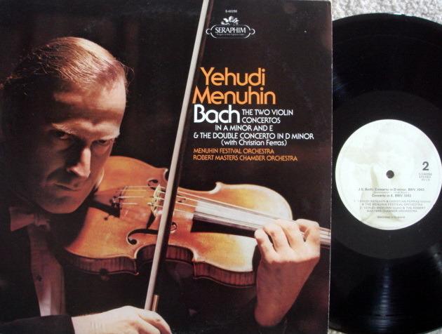 EMI Angel Seraphim / MENUHIN-FERRAS,  - Bach Two Violin Concertos, NM!