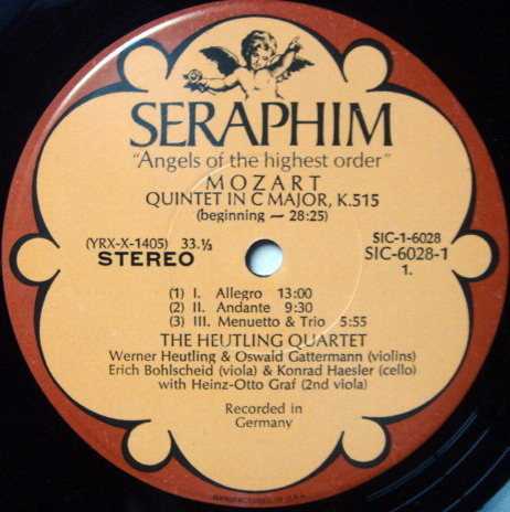 EMI Angel Seraphim / HEUTLING QT, - Mozart The Complete String Quintets, NM, 3LP Promo Box Set!