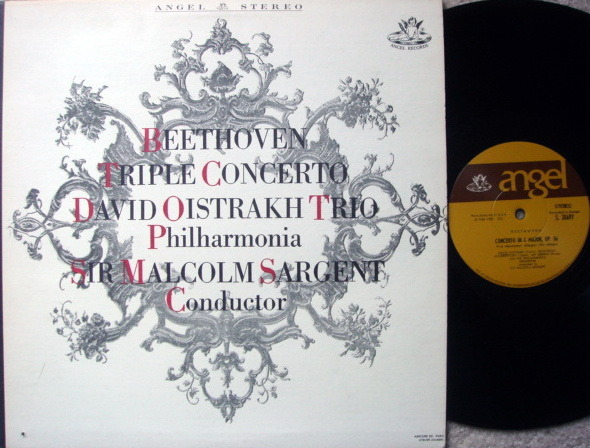 EMI Angel / OISTRAKH TRIO, - Beethoven Triple Concerto,  NM!