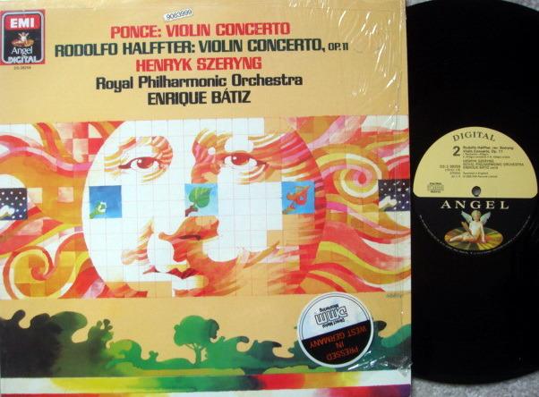 EMI Angel Digital / SZERYNG, - Ponce-Halffter Violin Concertos, NM!