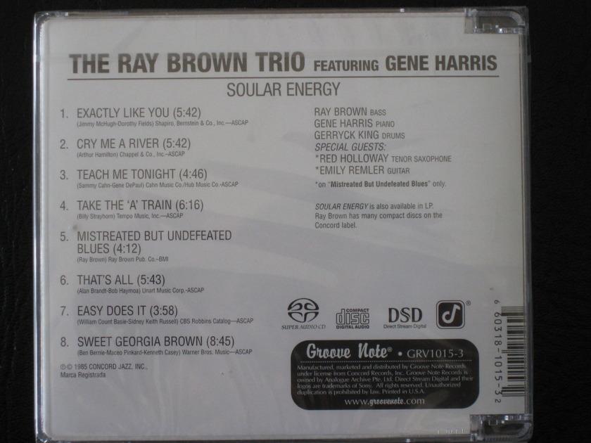Ray Brown Trio - Soular Energy  - Hybrid SACD - GRV1015-3 - BRAND NEW