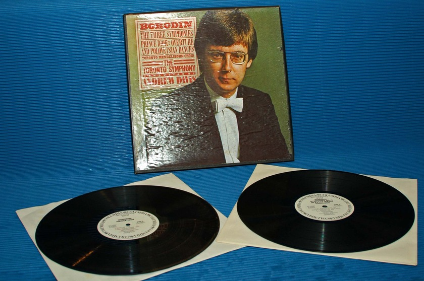 "BORODIN/Davis -  - ""The Three Symphonies"" -  CBS 1977 WLP Promo 1st pressing"