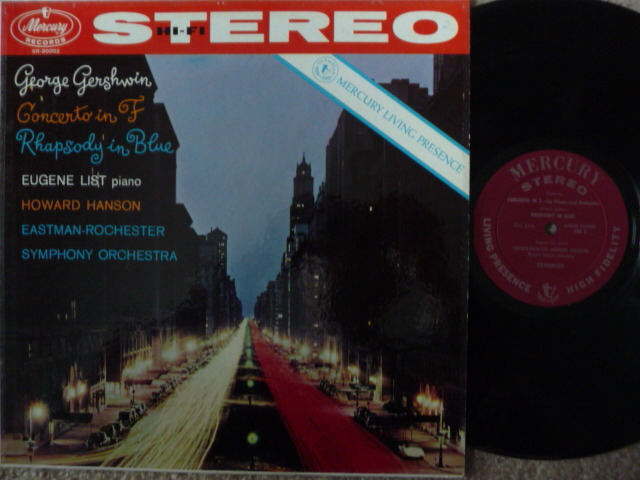 GERSHWIN  - RHAPSODY IN BLUE MERCURY LP EXCEL