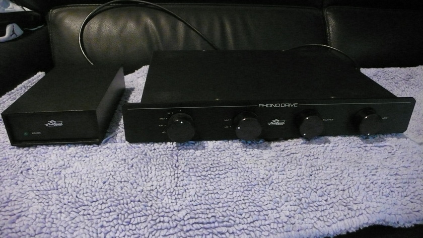 Mod Squad Phono Drive with external power supply phono preamplifier