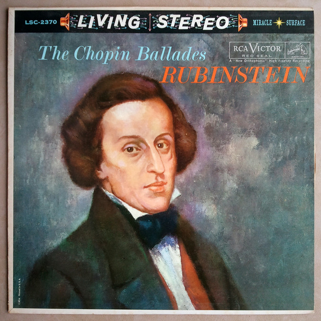 RCA White Dog | RUBINSTEIN/CHOPIN - Ballades / EX