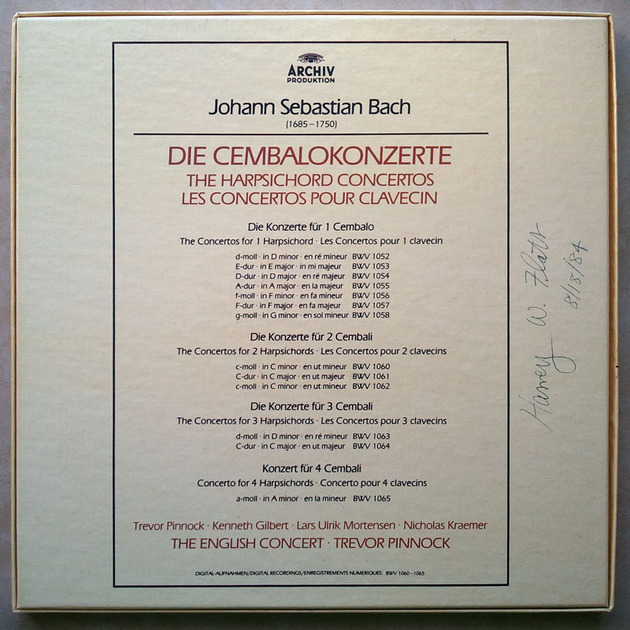 ARCHIV | PINNOCK/BACH - The 13 Harpsichord Concertos / 4-LP / NM