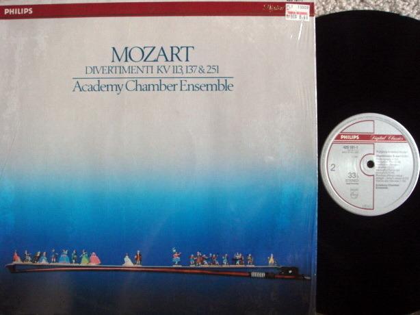 Philips Digital / ACADEMY CHAMBER ENSEMBLE, - Mozart Divertimentos, NM!