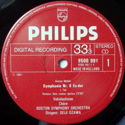Philips Digital / OZAWA,  - Mahler Symphony No.8 Thousand,  NM, 2LP Box Set!