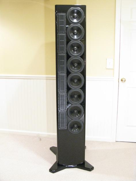 AV123 LS6 Line Source speakers in piano black