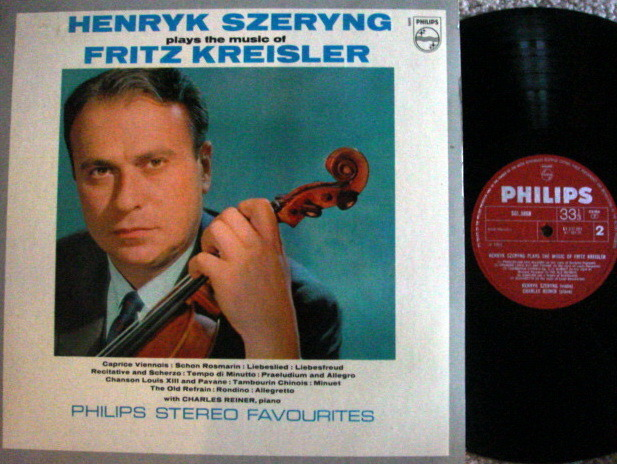 Philips UK Pressing / SZERYNG, - Fritz Kreisler Violin Music,  NM!