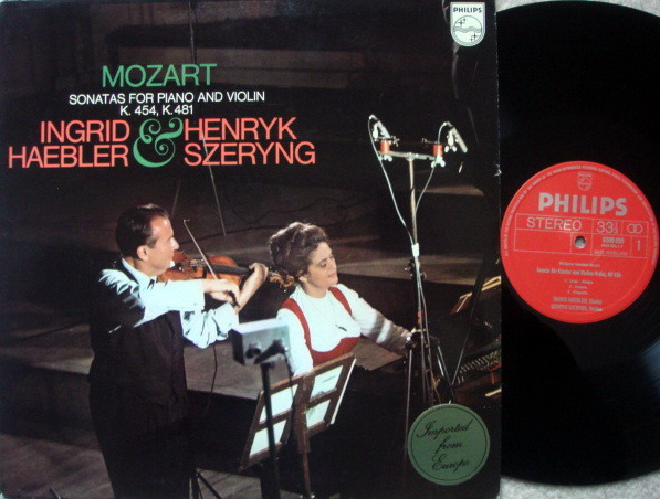 Philips / SZERYNG-HAEBLER, - Mozart Violin Sonatas K.454 & 481,  NM!