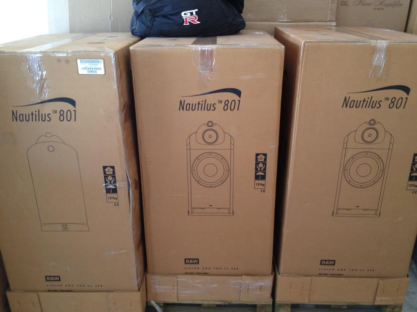 B&W Nautilus 801  3 x 801 consecutive serial#, Cherry Mint Condition
