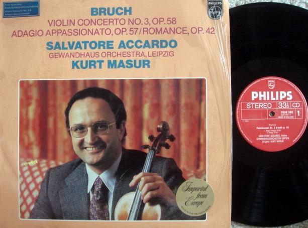 Philips / ACCARDO-MASUR, - Bruch Violin Concerto No.3,  NM!