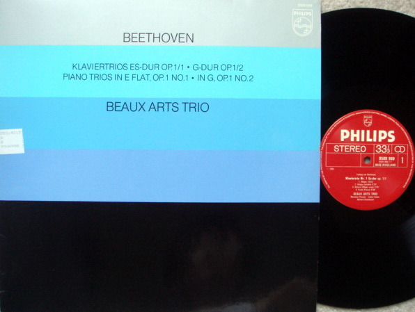 Philips / BEAUX ARTS TRIO, - Beethoven Piano Trios No.1 & 2,  NM!