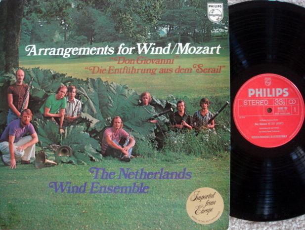 Philips / NATHERLANDS WIND ENSEMBLE, - Mozart Arrangements for Wind, NM!