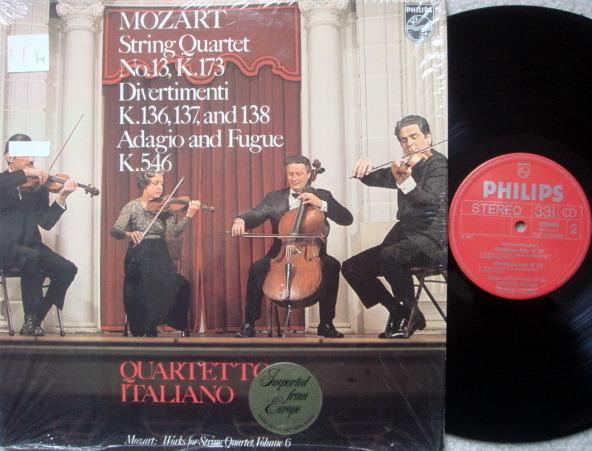 Philips / QUARTETTO ITALIANO, - Mozart String Quintets No.13, Divertimentos,  NM!