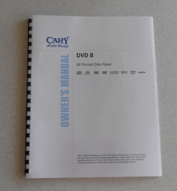 Cary Audio Design DVD 8 All Format Disk Player
