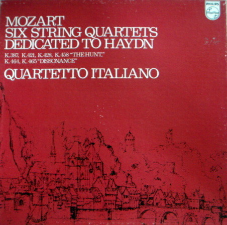 Philips / QUARTETTO ITALIANO, - Mozart Six String Quartets dedicated to Haydn,  NM, 3LP Box Set!