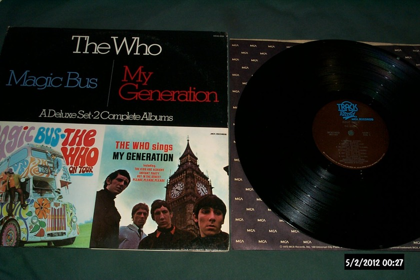 The who - 2 Lp Track Label magic bus/my generation
