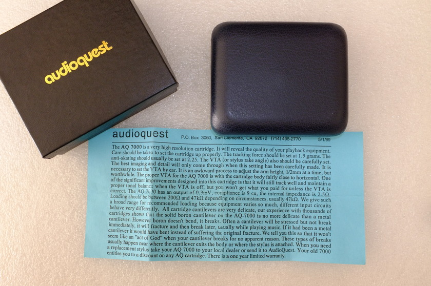 Audioquest 7000 Moving Coil Cartridge