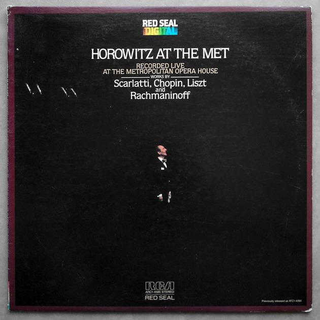 RCA Digital | HOROWITZ AT THE MET / RACHMANINOFF - Prelude in G Minor Op. 23 No. 5/SCARLATTI Six Sonatas/CHOPIN/LISZT / NM