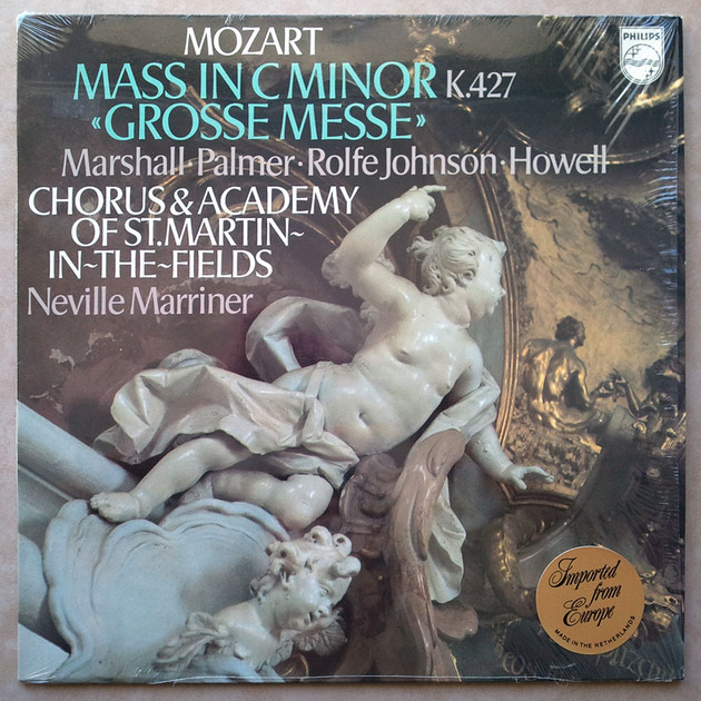 PHILIPS   MARRINER/MOZART - The Great Mass in C Minor K. 427 / NM
