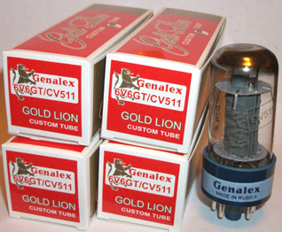Genelax Gold Lion, 6V6GT/CV511 tubes, matched quads, brand new.