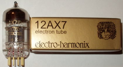 Electro Harmonix 12AX7/12AU7/12AT7 pre-amp tubes, gold pin, brand new