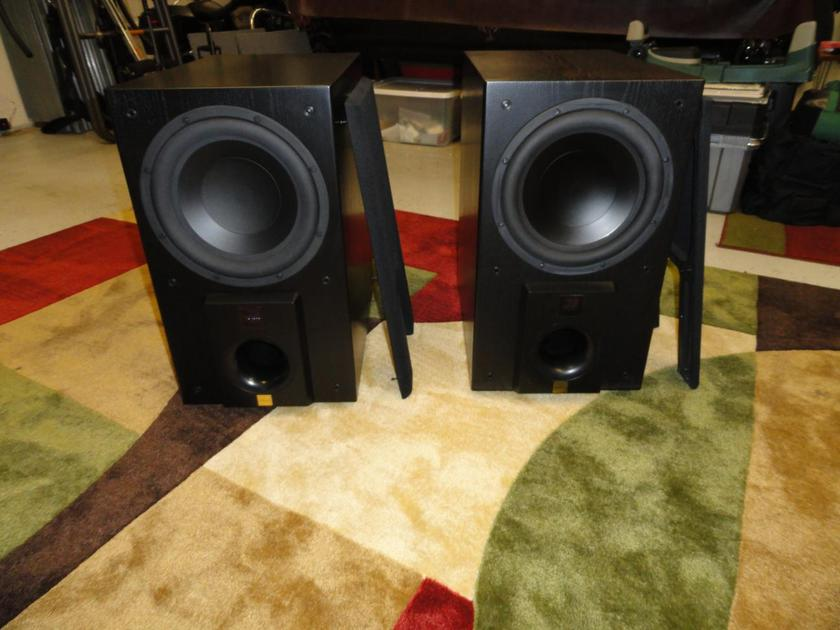 Aerial Acoustics SW12 black, two available, great condition