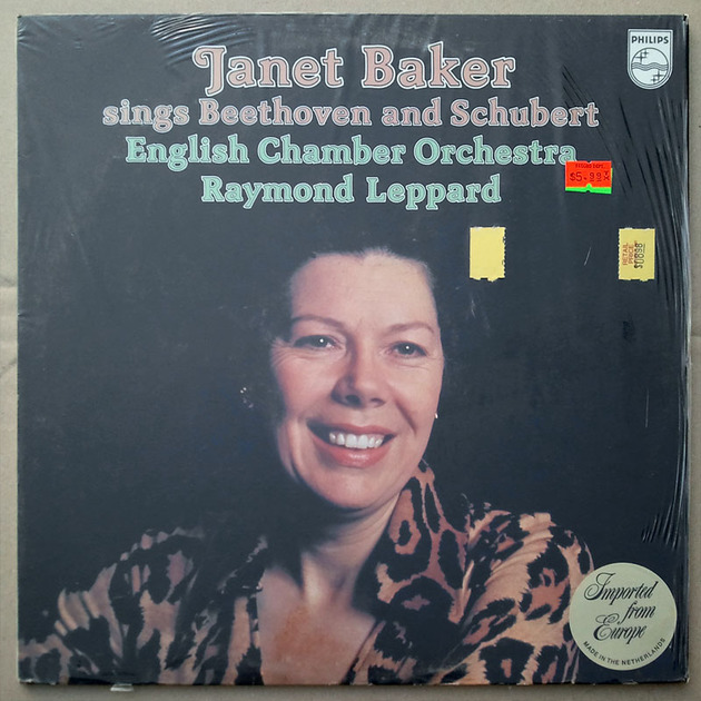 PHILIPS | JANET BAKER - sings BEETHOVEN & SCHUBERT / NM