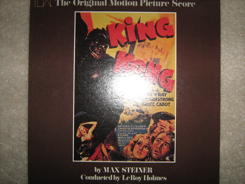 King Kong by Max Steiner - The original film score United Artists  stereo lp