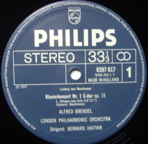 Philips / BRENDEL-HAITINK, - Beethoven Complete Piano Concertos, NM, 5 LP Box Set!